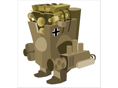 Panzer Iv 9000 ww2 worldwar war vector tank robot panzer mech german bot