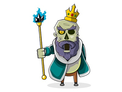 Undead King zombie vector valhalla undead king illustration game evil crown circus card board