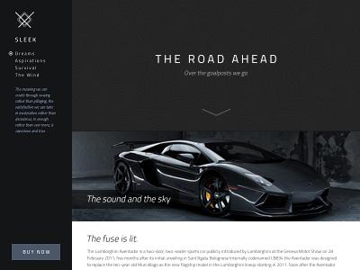 The Road Ahead road ahead car sleek template strikingly web design sidebar menu