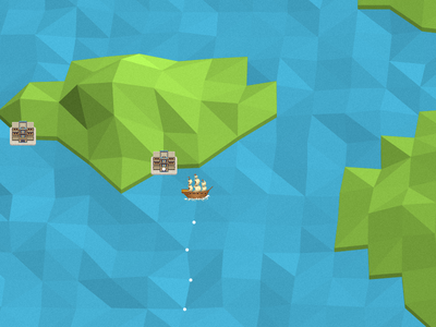 Always be shipping shipping game low poly boat map ocean