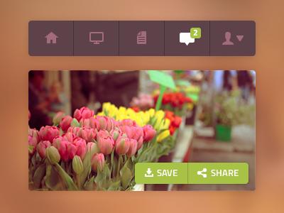 Image & Toolbar image toolbar menu nav icon orange share