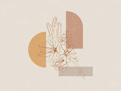 Floral Vibes earth tones digital minimal botany floral botanical flower illustration flower illustration
