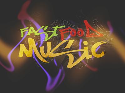 :FastFoodMusic//' logo design art designs illustrations illustration illustraion color vector illustration art designer design artist artwork illustrator art
