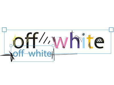 """off""""White"""" comics brand design off white offwhite logodesign logo color illustrator vector vectorart illustrations graphic design graphic designer design artwork artist art"""