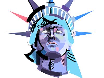Statue Of Liberty comics color usa statue of liberty vector illustration vectorart vector illustration art illustrations illustraion illustrator graphicdesign graphic designer design artwork artist art