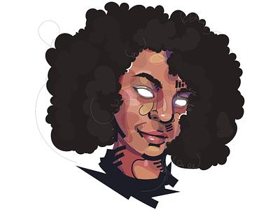 WUNMI afro comics logo color illustration art illustrations illustraion illustrator vector illustration vectorart vector graphic designer design artwork artist art