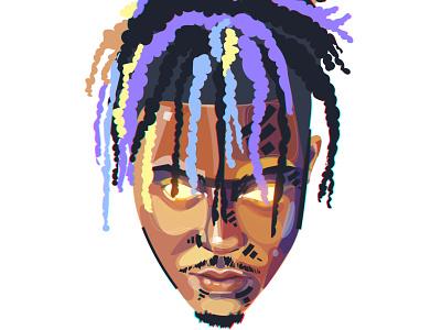 """""""JUICE WRLD"""" logo colors color juicewrld juice illustration art illustrations illustraion illustrator designer design artwork artist art"""