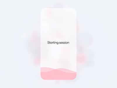 Meditation app concept animation interaction design interaction clean ui waves mobile app ui meditation app design visual design