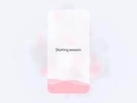 Meditation app concept