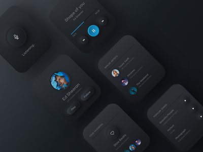 Music player - Watch OS watch app skeumorphism skeumorphic watch ui minimal watch watchos music player music app music neumorphism neumorphic app design dark mode dark clean ui