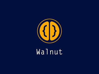 Walnut Logo visual identity coding logo code walnut logogram monogram logo design brand identity brand design branding visual design logo
