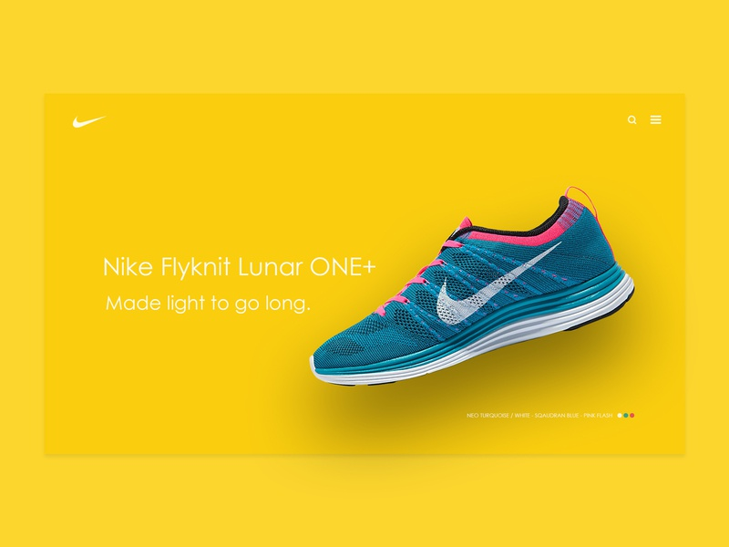 Nike Flyknit Shoes - website concept