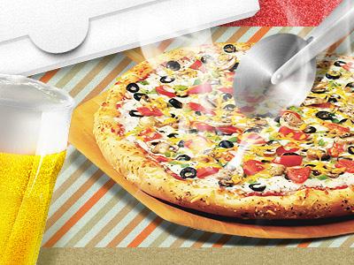 Pizza pizza beer