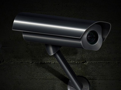Camera camera metal wall