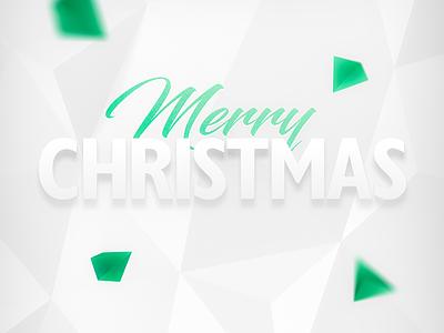 Merry christmass white polygonal merry christmass