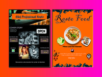 Cover Magazine Food And chef
