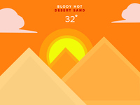 hot weather illustrations