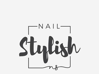 Nail Stylish Logo beauty nail branding design logo