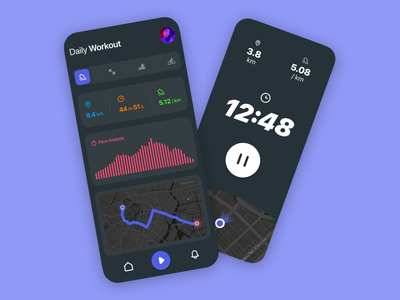 Workout App fitness workout branding design dailyui ios concept app interface ux ui