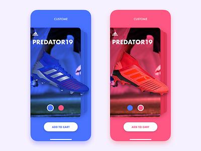 Custom product shoes shopping buy card design ios custom interface userinterface app ux ui