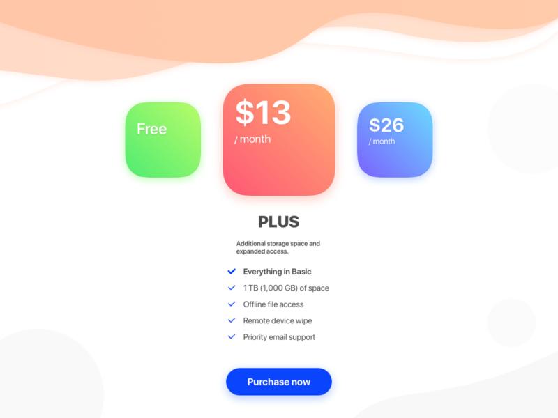 Princing blue red green wave design princing web interface userinterface app ux ui