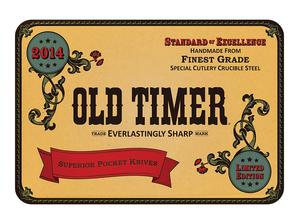 Old Timer Collector Tin Artwork limited edition collector knives product design branding illustration tin typography vintage art vintage package design packaging graphic design design