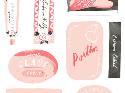Lisboa travel guide travel guide pink publication book travel design illustration