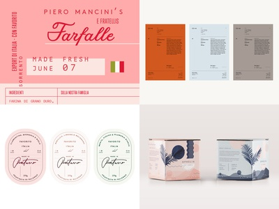 Top 4 Shots 2018 design architects labels italian packaging illustration branding pink