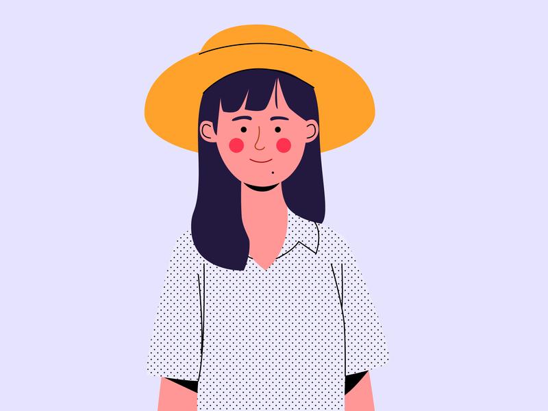 Her dailyillustration design character vector cartoon illustration