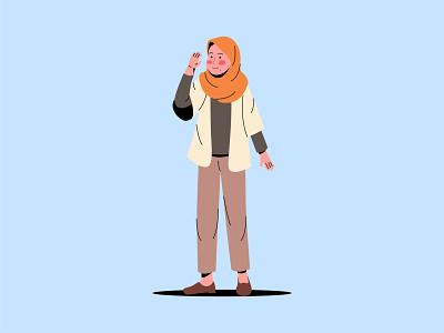 Aye sir! girl portrait dailyillustration design character vector cartoon illustration