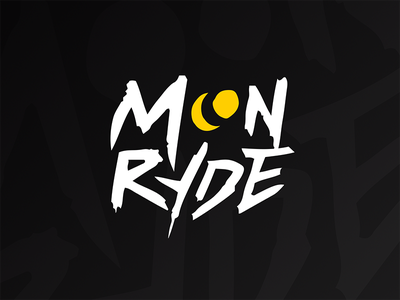 Moonryde - Lettering moon call of duty twitch streamer moonryde