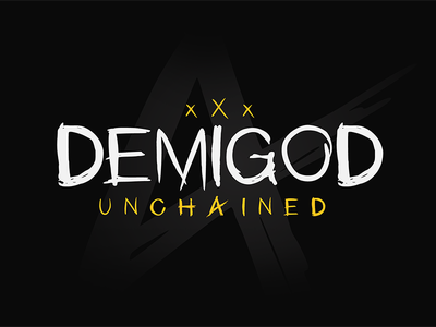 Demigod Unchained - Font custom font custom unchained demigod demigod unchained