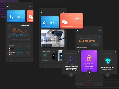 Security Appliance online app security camera prototype design ux design ui design online ecomerce app security app