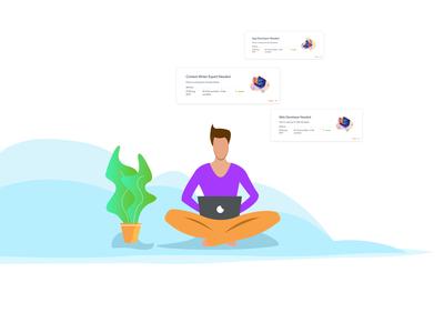 Flat Infographics for leadsin.io