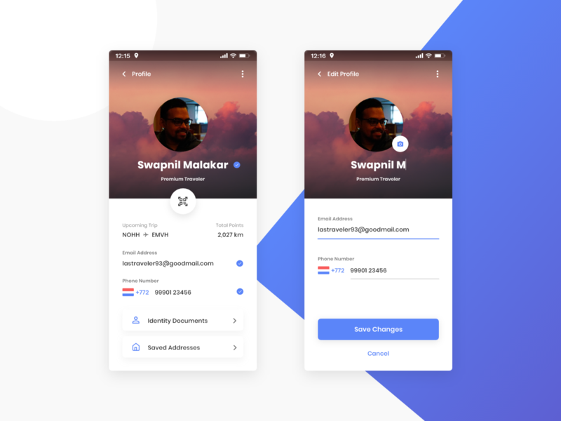 DailyUi #006 User Profile material android edit profile edit details cover email photo user profile userprofile profile user dailyuichallenge dailyui 006 dailyui ux daily ui ui adobexd adobe xd