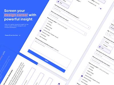 Simple Survey Form project frontend responsive material design ux ui figma design figmadesign figma freecodecamp form design form field forms form surveys survey