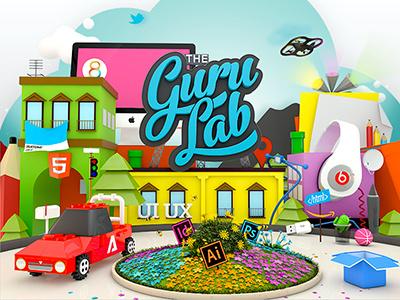 The Guru Lab city the guru lab city geko napoli 3d render
