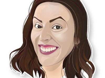Portrait  portrait vector graphic design napoli