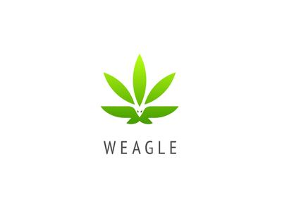 weagle = eagle + weed vector logo eagles eagle bird wings wing leafs leaf weeds weed