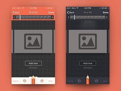 Edit Screen Concept mobile flat ios ios7 ui ux edit screen design