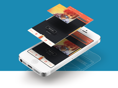 Mobile Landing Hero mobile ios7 ui user interface ux user experience design