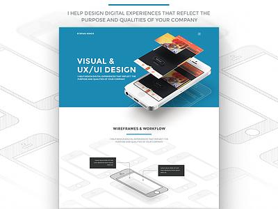 Mobile Landing Page mobile design ui user interface ux user experience portfolio landing page