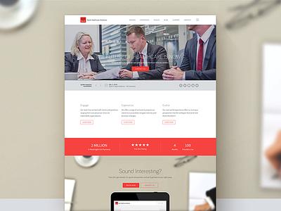Home Page web design home page responsive design design branding