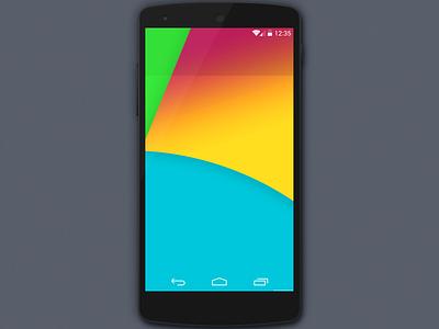 Google Nexus 5 Mockup PSD psd template ui mockup android nexus google mobile