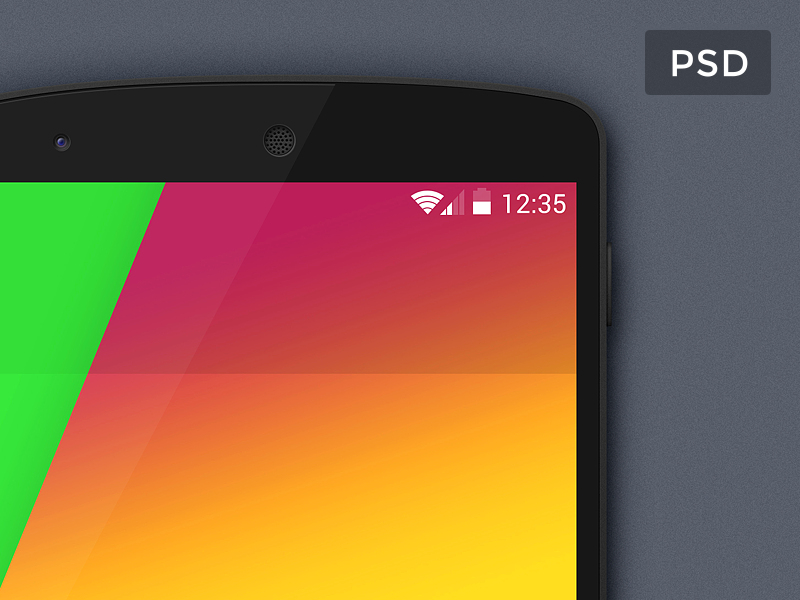 Google Nexus 5 Mockup PSD psd template ui mockup android nexus google mobile