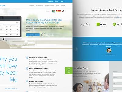 PayNearMe for Businesses business paynearme home page web design