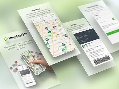 PayNearMe App Store Slides slides app store ui mobile paynearme