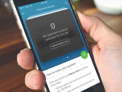 Payment details card location payment cash finance ux ui ios app