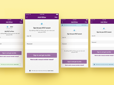 A/B Testing sign in register ux ui mobile
