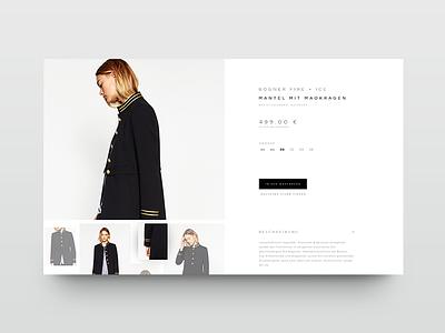 Bogner Detailpage detail product web ux ui shop detailpage munich münchen whitespace fashion ecommerce